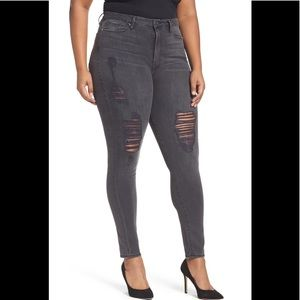 Good American Faded Distressed Skinny Jeans 18